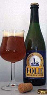 BELGIUM Micro,Brasserie Vapeur Pipaix FOLIE 1995 beer label C2333 034