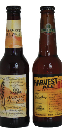 2006 and 2008 Harvest Ale bottles