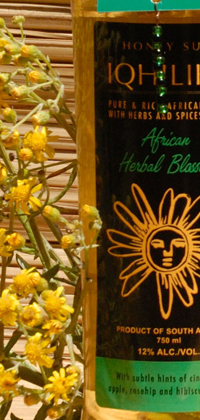 iQhilika African Herbal Blossom Mead 25.4oz bottle.