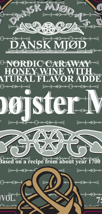 Klapojster Mjod 750mL ceramic bottle label.